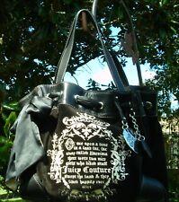 Juicy Couture Black Velour Double H