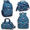 Girls Ladies Blue Backpack Rucksack School College Travel Work Laptop Bag OWLS