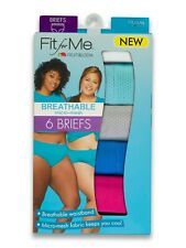 Fruit Of The Loom Fit For Me Women's Plus Size Breathable Micro-Mesh Brief 6Pack