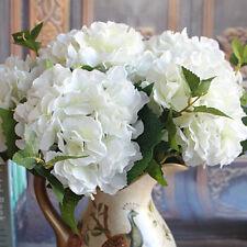 Rose Artificial Silk Peony Flowers Bouquet Room Hydrangea Wedding Decor White