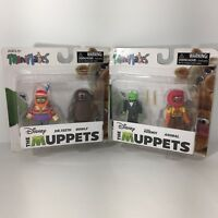 Disney The Muppets Minimates Series 2 Dr Teeth Rowlf Kermit Animal New Lot Of 2