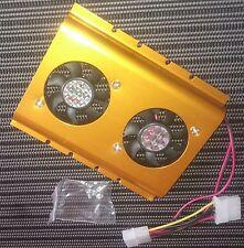 2 Cooling Fans for 3.5 Inch PC Hard Disk HDD Ventilateurs de Refroidissement