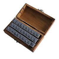 Schema de timbre des symboles alphabet minuscules en bois marron N9U7