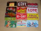 Target    12 different new and used collectible gift cards