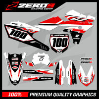 Custom MX Graphics Kit: YAMAHA YZ YZF WR WRF 125 - 450 - RETRO WHITE