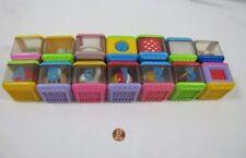 14 Fisher Price PEEK A BLOCK Blocks Audio Visual Tactile Development Toy Lot #5