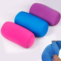 Micro Beads Roll Neck Head Waist Pillow Support Sofa Chair Sleep Bolster Travel