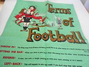Vintage Souvenir Teatowel Terms of Football - Pure Irish Linen by Moygashel New