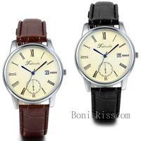Luxury Men's Date Leather Strap Calendar Military Sport Quartz Wrist Watch