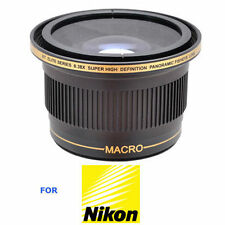 52MM X38 FISHEYE WIDE ANGLE LENS+ MACRO For NIKON D3000 D3100 D3200 D3300 D5000