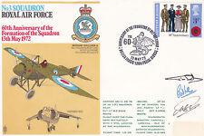 GB 1972 RAF 60th Anniv of 3 Squadron Formation Commemorative Cover Signed