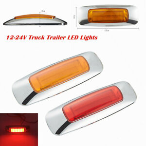 2X Universal Truck Trailer Side 8LED Brake Light Signal Lamp Extension Indicator