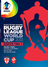 * Angleterre v France - 2013 ligue de rugby coupe du monde de programme de qualification *