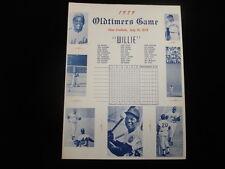July 14, 1979 Oldtimers Game @ Shea Stadium Scorecard