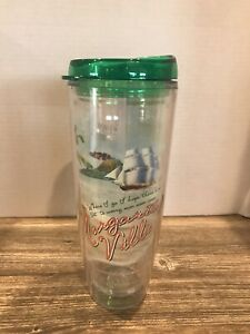 Margaritaville 26 Oz Graphic Tumbler with Green Lid PBA Free - Mint