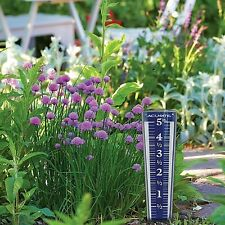 Rain Gauge Easy Read Magnifying Garden Durable 5 Inch Capacity Blue 12.5 inch