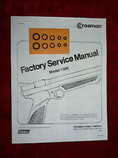 Crosman 1300 Air Pistol Two (2) O-Ring Seal Kit + Factory Service Manual + Guide