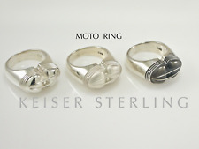 BMW Motorcycle Vintage Airhead Sterling Silver Scale Replica Mens Ring R69 R69S!