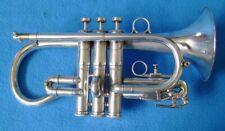 Superb Brilliant Silver B & H (Besson) Imperial E b Cornet,  Plays beautifully.