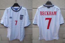 Maillot ANGLETERRE ENGLAND football shirt BECKHAM n°7 vintage UMBRO 1999 2001 XL