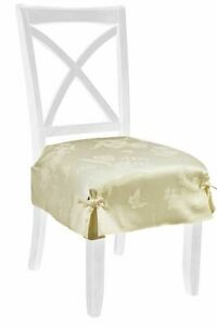 Spring Splendor Floral Seat Covers in Ivory (Set of 2)