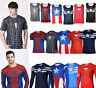 Men's Compression Marvel Superhero Costume Vest Tank Top T-Shirts Cycling Shirt