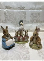 Beatrix Potter,Beswick England, «Benjamin Bunny» F.Warne & Co. Set Of 4 ,Vintage