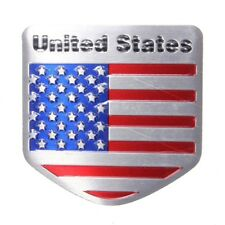 Refitting Car Decals Sticker US USA American Flag Alloy Metal Emblem Car Badge