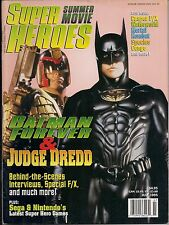 Super Summer Movie Heroes 1995 STALLONE JUDGE DREDD, KILMER BATMAN FOREVER