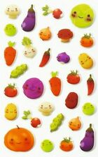 Maildor 32 tlg. Sticker Set Cooky niedliches Gemüse, 3D Sticker