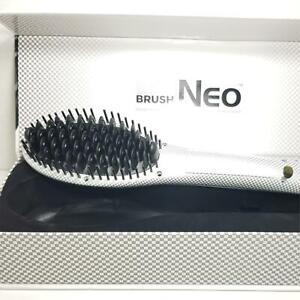 Professional NEO ionic heat straightening WHITE soft touch BRUSH