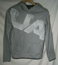 Under Armour Boys Fleece Highlight Printed Hoodie Steel 035 White Youth X-Large