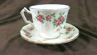 Aynsley Bone China Tea Cup and Saucer Made In England Grotto Rose 185 Pattern