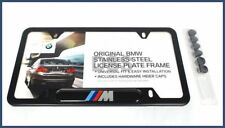 New Genuine BMW License Plate Frame ///M Black Stainless Steel OE 82120010404