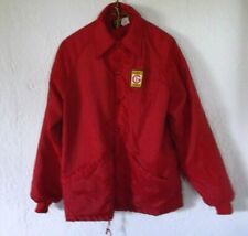 Vintage Funk'S G Hybrid Swingster Red Jacket With Embroidered Patch Size Small
