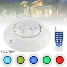 18W RGB IP68 Waterproof Resin Swimming Pool Light Underwater LED Night Lamp 12V