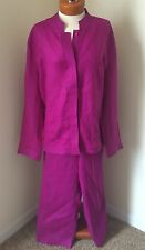 NYGARD Pink  Linen Long Sleeve Pant Suit Womens 16/18