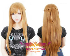 Anime Sword Art Online Asuna Yuuki Dress Cosplay Wig New