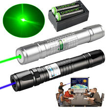 900mile Greenblue Laser Pointer Pen Beam Lazer Light With Rechargeable Battery