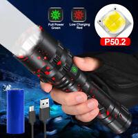 Taschenlampe XHP50 LED Super hell Arbeitsleuchte USB Aufladbar Wetterfest Fackel