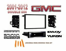2001-2012 GMC SIERRA SAVANA CANYON ENVOY YUKON 2 DIN CAR STEREO INSTALL DASH KIT