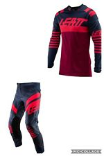 Leatt 4.5 GPX Adult Motocross MX Kit Combo Ink/Red New Large Jersey/34 Inch pant