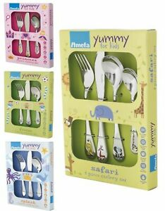 Amefa Yummy For Kids 3 Piece Cutlery Set Designed for little Hands - 5 designs