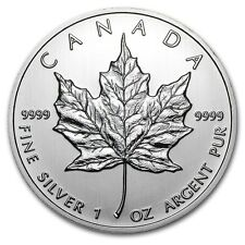 2012 Canadian $ 5 Dollars Maple Leaf 1 oz .9999 Silver Coin