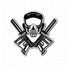 Paintball Skull Mask Cross Guns Sticker