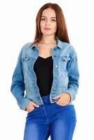Ladies Denim Jacket Blue Womens Jeans Casual Grey, XS, Small, Medium & Large