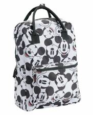Disney Adult Zippered Backpack Classic Mickey Mouse Bag with 2 Carrying Handle