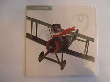 The Aviator Schnauzer dog in plane blank square greetings card