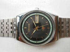 Stainless Steel Rare Vintage Black DialCitizen Japan D/Date Men Automatic Watch
