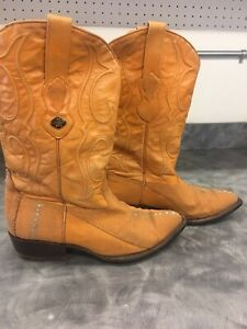 Los Altos Cowboy Boots Stingray Size 8 1/2 EE